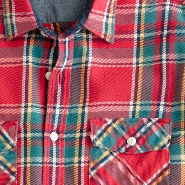 Wallace & Barnes heavyweight flannel shirt in Big Basin plaid