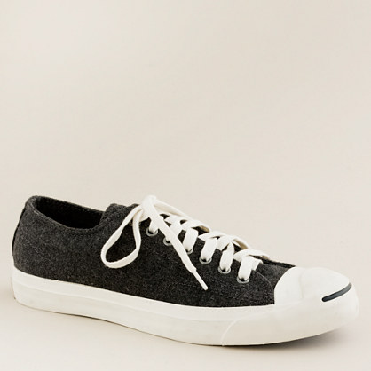 Converse® wool flannel Jack Purcell® sneakers