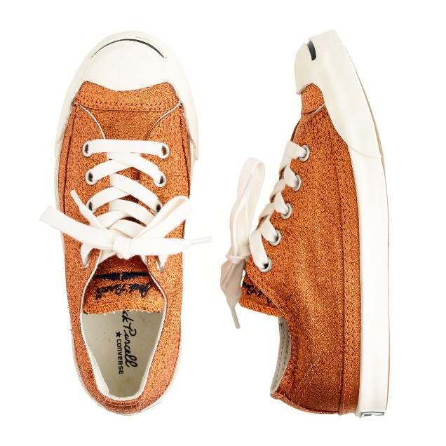 Girls' Converse® Jack Purcell® metallic sneakers