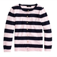 Collection featherweight cashmere cardigan in stripe