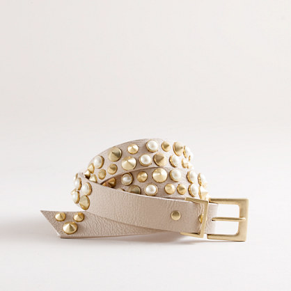 Eddie Borgo at J.Crew cone and pearl belt