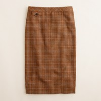 No. 2 pencil skirt in plaid