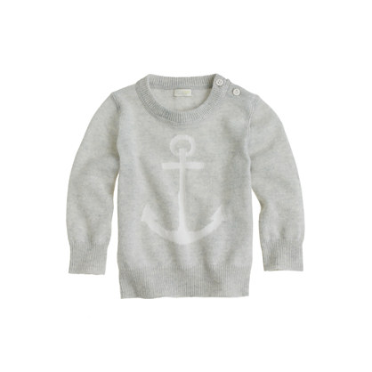 Baby cashmere sweater in anchor