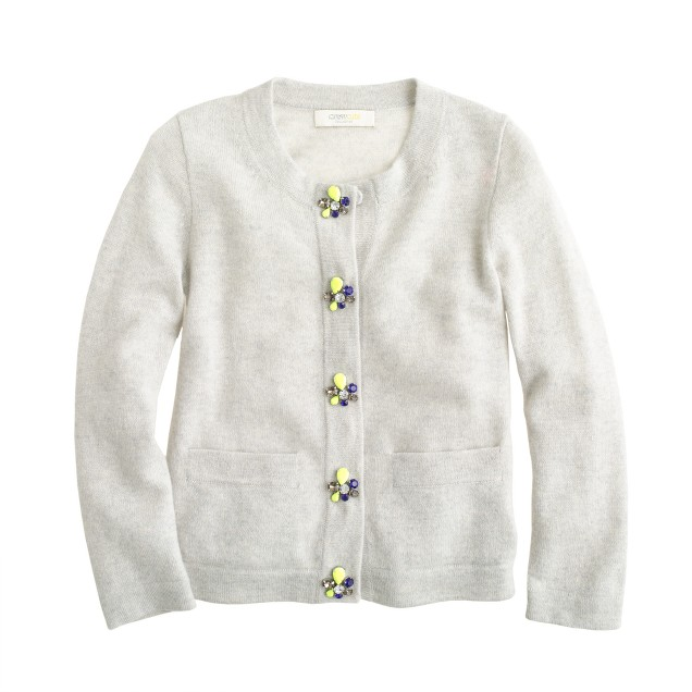 Girls' Collection cashmere bling-button cardigan