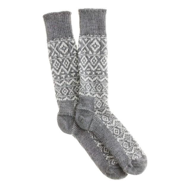 Fair Isle camp socks
