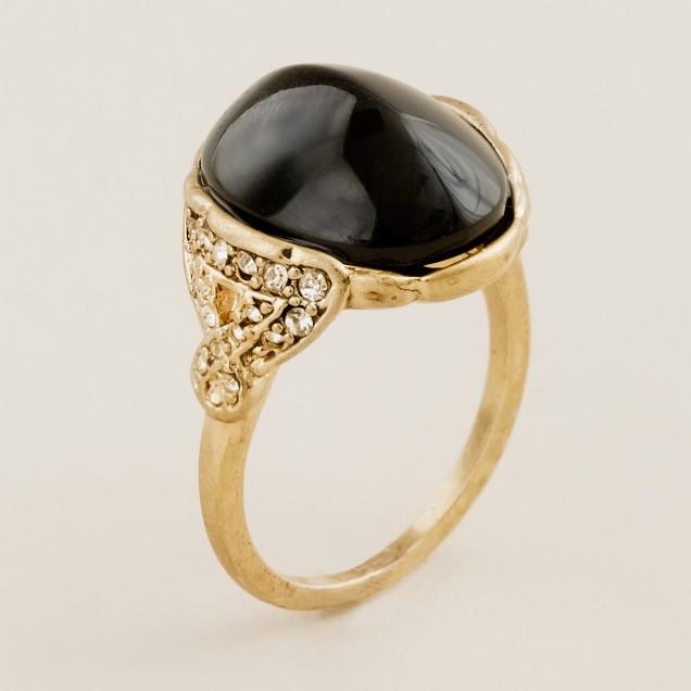 Deco cabochon ring