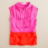 Girls' colorblock tuxedo top