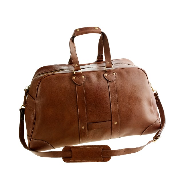 Montague leather weekender bag