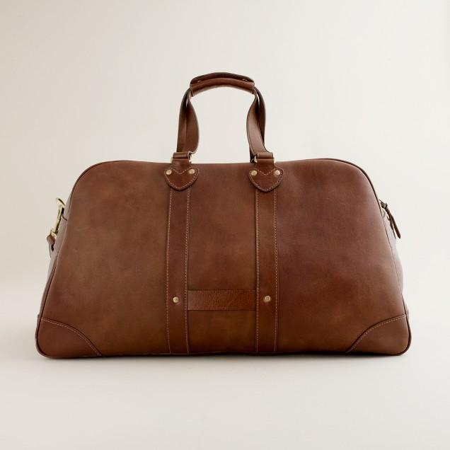 Montague leather weekender bag