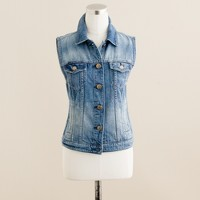 Denim vest in workwear wash