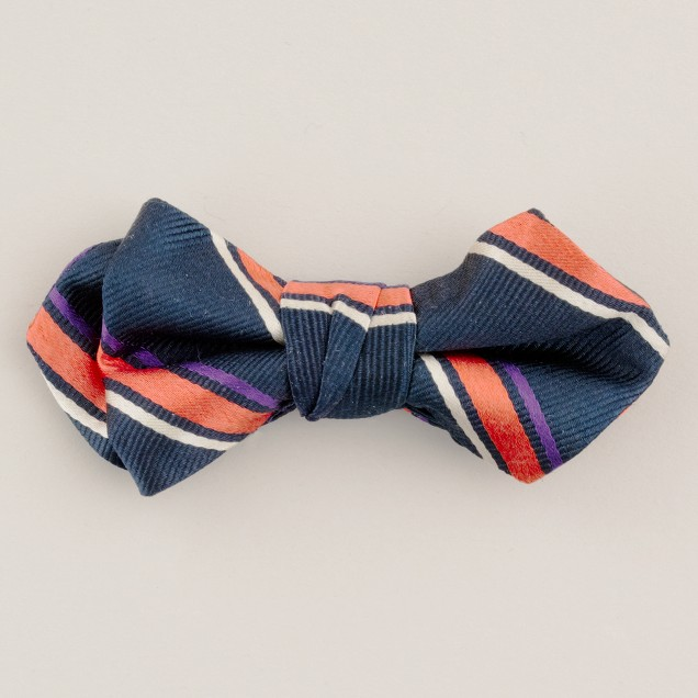 Boys' game day stripe bow tie