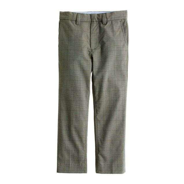 Boys' Bowery slim in glen plaid