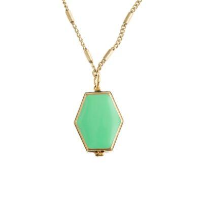 Enamel locket necklace :