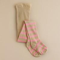 Girls' fall stripe tights