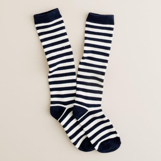 Girls' stripe knee-highs