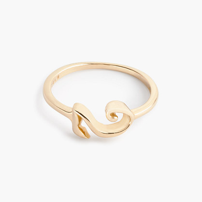Lulu Frost 14k gold code ring