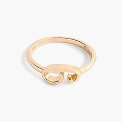 Lulu Frost 14k gold code ring
