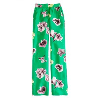 Collection silk-wool punk floral trouser