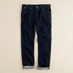 Wallace & Barnes slim selvedge jean in rinse wash
