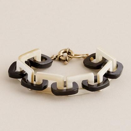 Resin and horn bracelet
