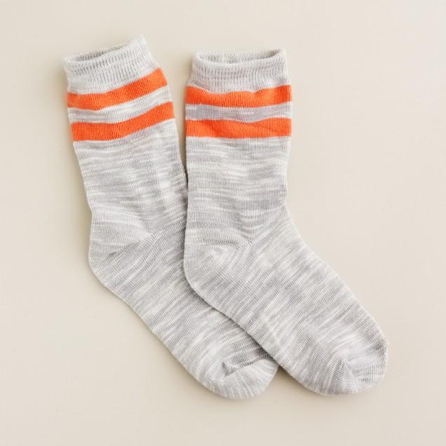 Boys' marled stripe boot socks