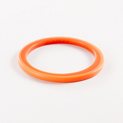 Skinny resin bangle
