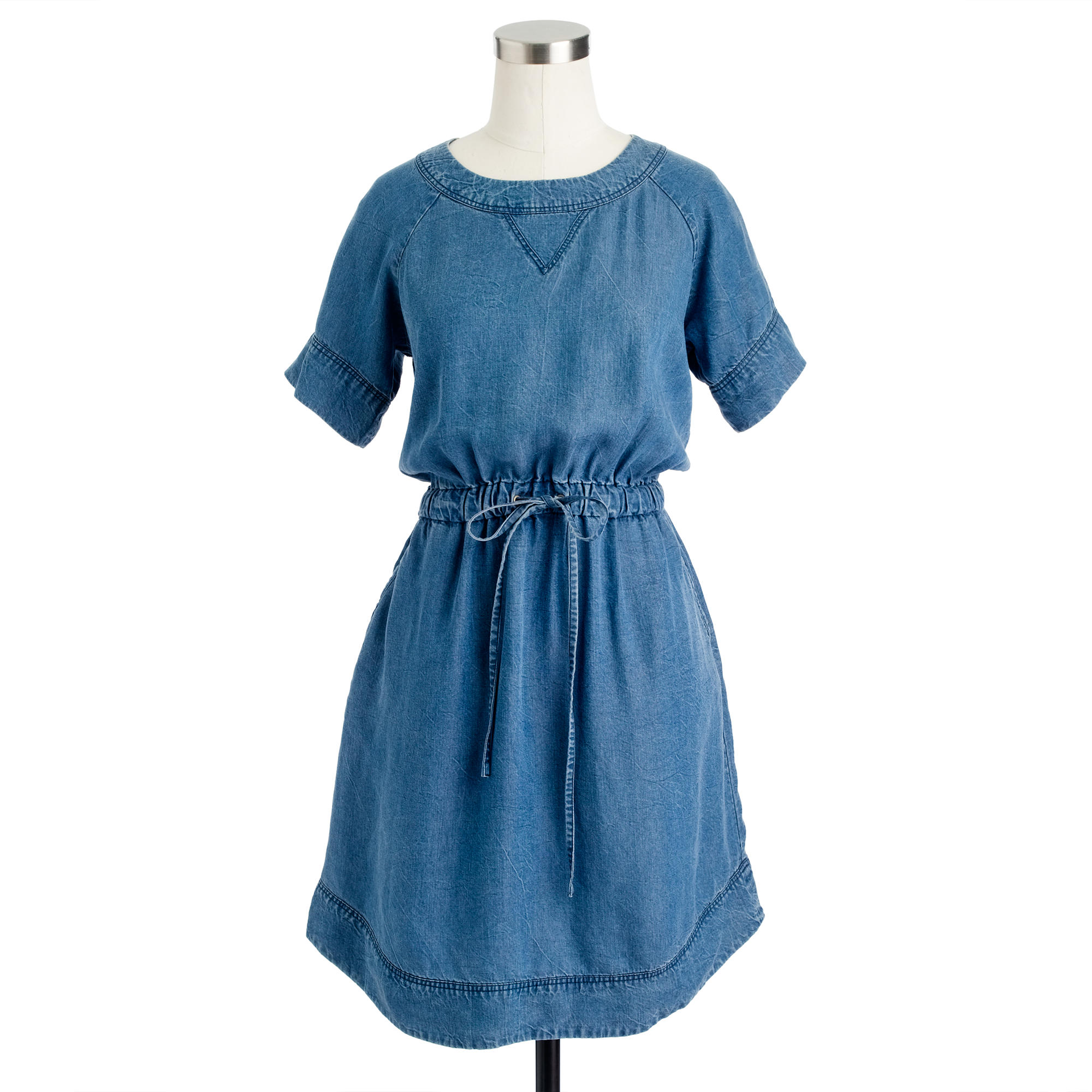 Lightweight washed chambray dress j crew for Chambray 7 s