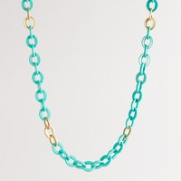 Resin and gold link necklace