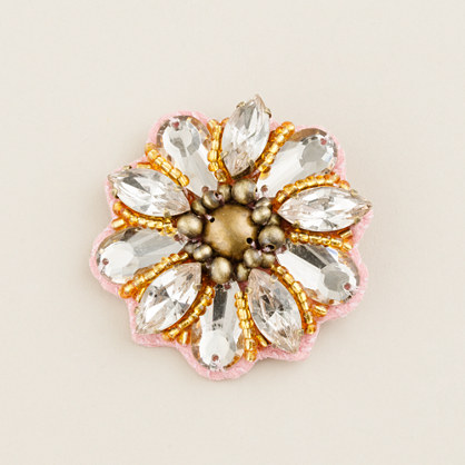 Girls' flower power pin