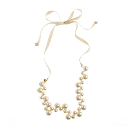 Girls' apple pearl necklace