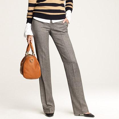 Café trouser in wool herringbone