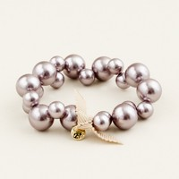 Girls' apple pearl bracelet