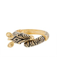 Enameled zebra bangle