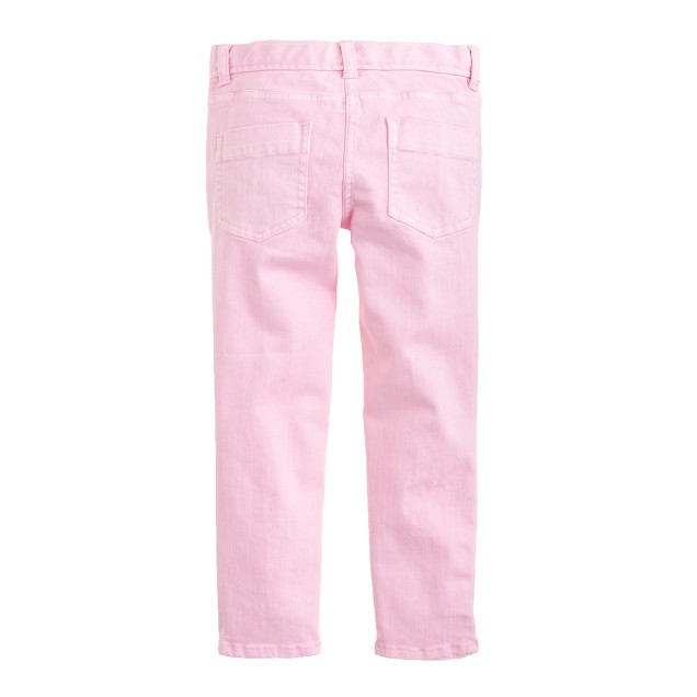 Girls' toothpick ankle jean in garment-dyed twill