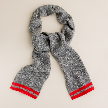 Boys' Donegal wool scarf