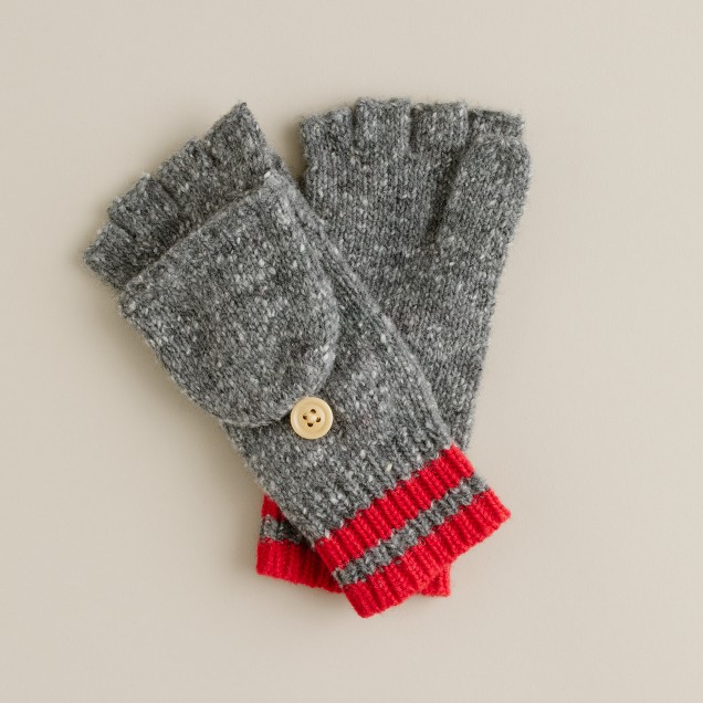 Boys' Donegal wool convertible mittens