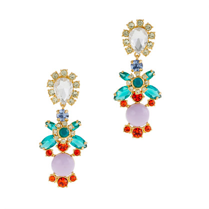 Crystal color earrings