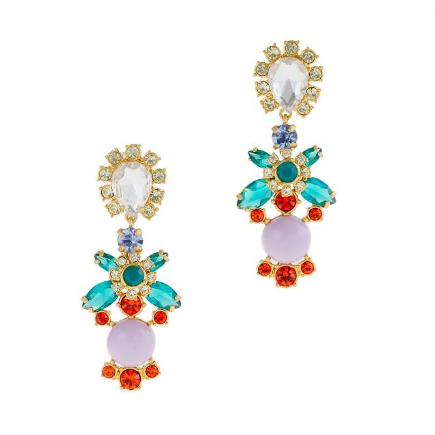 Crystal color earrings