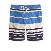 "9"" board short in nautical stripe"