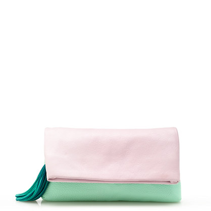Colorblock convertible clutch