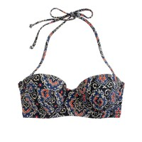 Midnight paisley underwire top
