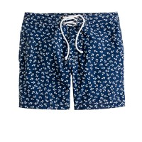 "7"" board shorts in anchor print"