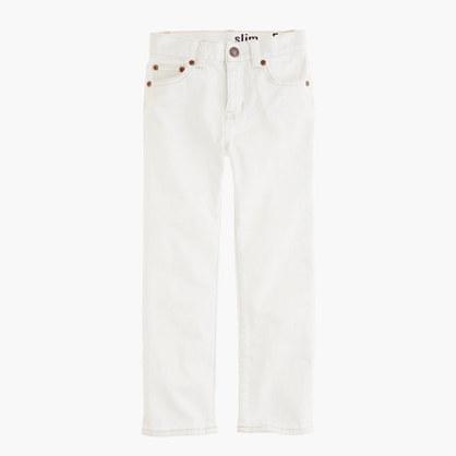 Boys' slim jean in white wash