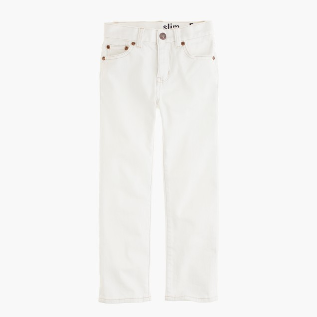 Boys' slim jean in white wash