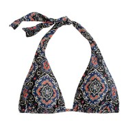 Midnight paisley triangle halter top
