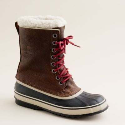 sorel 174 1964 leather boots j crew
