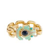 Enameled frog bracelet
