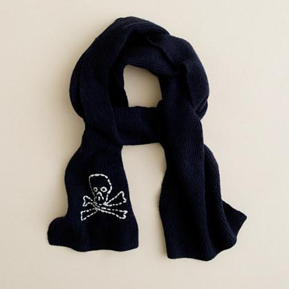 Boys' skull-and-crossbones scarf