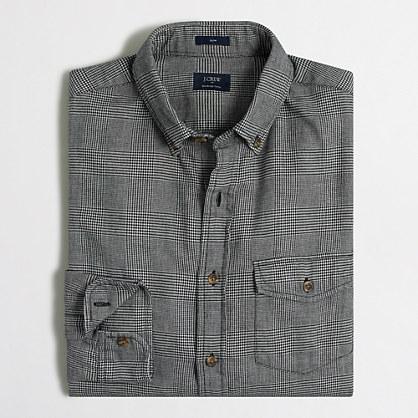 Slim brushed twill shirt