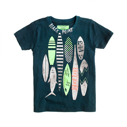 Boys' glow-in-the-dark surfboards tee
